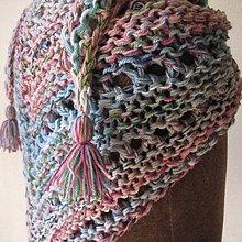Šatky - šatka pletená cukríková - 7960836_