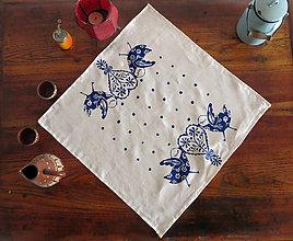 Úžitkový textil - Obrus vtáčik s orginálnou potlačou - 7963070_