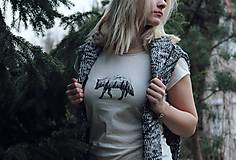 Tričká - S vlkom na hrudi - 7961521_