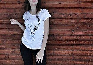 Tričká - Ručne kreslený vzor jeleňa - 7961581_