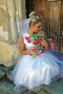 Šaty - Svadobné riasené šaty - 7962243_