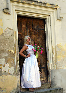 Šaty - Svadobné šaty s kvetmi - 7962470_