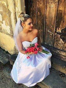 Šaty - Svadobné šaty s čipkou - 7963566_