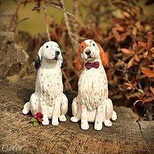 Dekorácie - Anglický seter - figúrky na svadobnú tortu - 7959961_