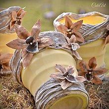 Nádoby - Črepník Orchidea Latté - 7960108_
