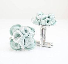 Šperky - Z morskej peny - tyrkysové manžetové gombíky - 7962289_