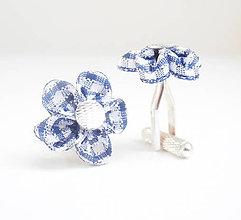 Šperky - Modro-biele káro (tartan) - kockované manžetové gombíky - 7962378_