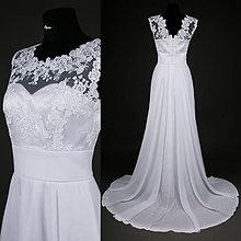 f5c7b6fbd855 Šaty - Svadobné šaty z tylovej krajky so širokým pásom a kruhovou sukňou -  7959696