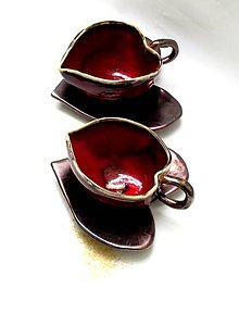 Nádoby - šálka srdce červená - 7961043_