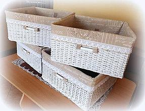 Košíky - Koš vintage  štýl - 7959040_