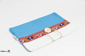 Papiernictvo - Obal na knihu  - folk modrý - 7961956_
