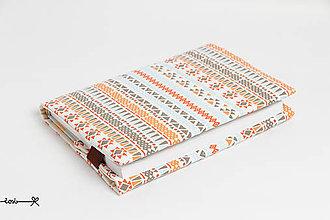 Papiernictvo - Obal na knihu otvárací - modrý indián - 7962501_