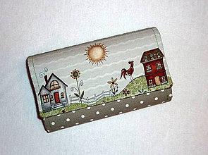 Peňaženky - Peňaženka - Na vidieku - 17 - béžová - 7958821_