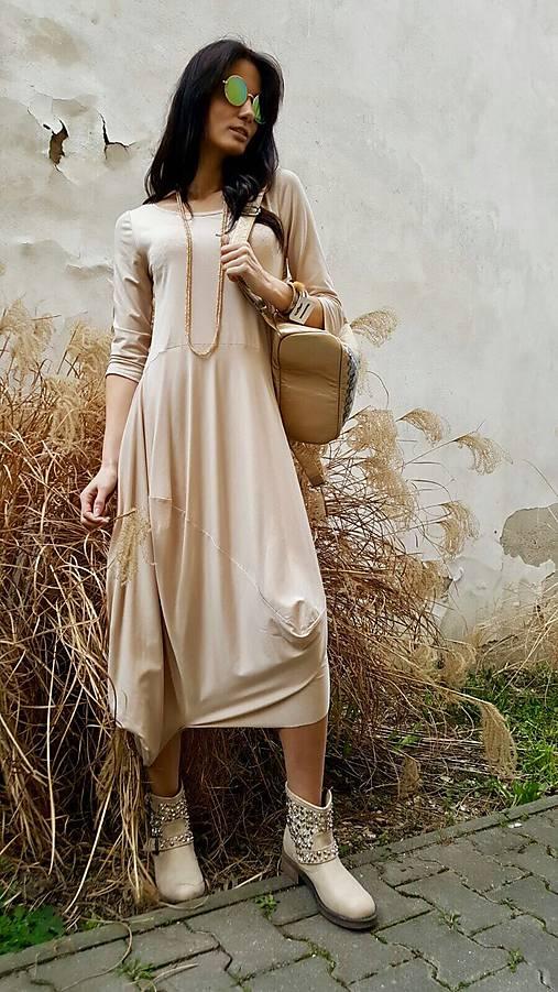 Šaty Sofia béžové