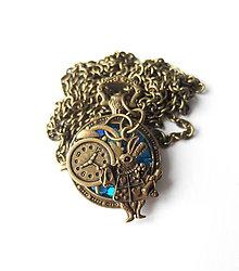 Náhrdelníky - Živicový náhrdelník Alica belasý - 7964086_