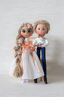 Bábiky - Svadobný pár - 7966052_