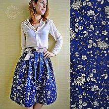 Sukne - Skladaná sukňa s kvetmi, elegantná - 7967160_