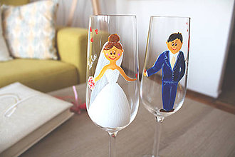 Nádoby - Svadobné poháre 3 - 7966388_