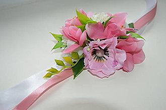 Iné doplnky - kvetinkový náramok pre družičku - 7965436_