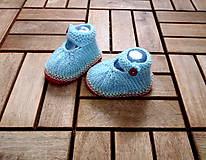 Papučky sandálky bledomodré