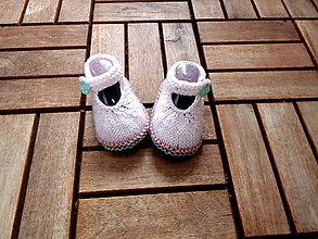 Topánočky - Papučky sandálky bledučkoružové - 7965750_