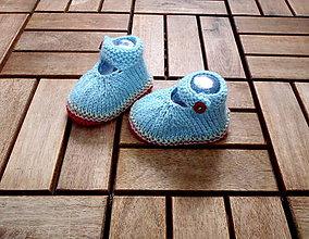 Topánočky - Papučky sandálky bledomodré - 7965787_
