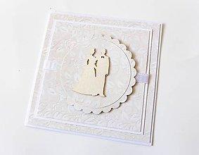 Papiernictvo - pohľadnica svadobná - 7963726_