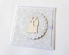 Papiernictvo - pohľadnica svadobná - 7963732_