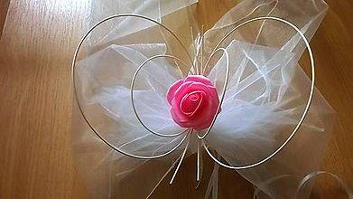 Kytice pre nevestu - Svadobná výzdoba na auto ružová - 7965293_