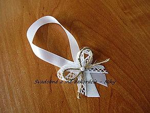 Darčeky pre svadobčanov - Stužky na fľaše VINTAGE - 7964514_