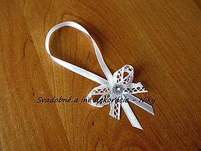 Darčeky pre svadobčanov - Stužky na fľaše - 7964670_