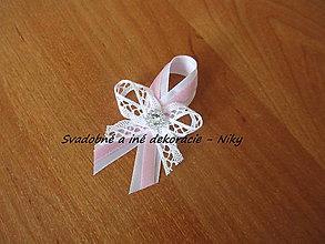 Darčeky pre svadobčanov - Pierka pre hostí (Ružovo biele) - 7964708_