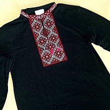 Oblečenie - Vyšívané tričko Červená s dlhým rukávom - 7967087_