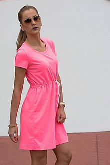 Šaty - SPORTY DRESS NEON PINK - 7964787_