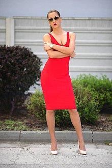 Šaty - RED DRESS - 7965815_