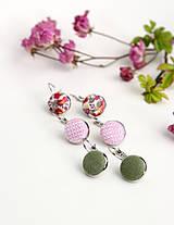 Sady šperkov - Set pôvabných náušníc z francúzskeho ľanu - 7965468_