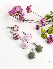 Sady šperkov - Set pôvabných náušníc z francúzskeho ľanu - 7965467_