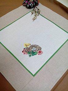 Úžitkový textil - Veľkonočný obrúsok s výšivkou - 7967729_