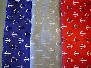 Textil - Bavlnená látka námornícka - kotvy - 7965292_