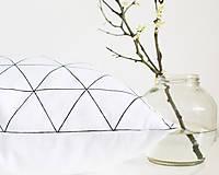 Úžitkový textil - Geometric triangel - biely 50x50  - 7966623_