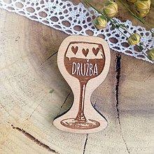 Darčeky pre svadobčanov - Odznak Družba - 7965851_