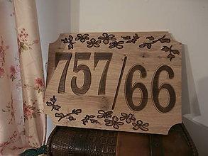 Tabuľky - Číslo domu 1 - 7966638_