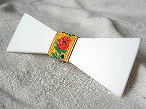 Doplnky - Motýlik s folklórnou stužkou (STMO13) - 7966851_