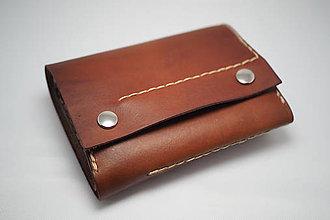 Peňaženky - Kožená peňaženka MontMat-ořech světlý - 7967680_