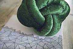 Úžitkový textil - Zelený vankúšik - 7964259_