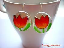 Náušnice - Náušničky tulipány žlto-oranžové :) - 7966955_
