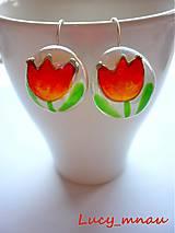 Náušnice - Náušničky tulipány žlto-oranžové :) - 7966956_