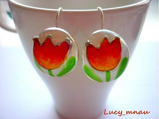 Náušničky tulipány žlto-oranžové :)