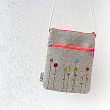 Peňaženky - Kapsička na cesty Farebné kvety - 7966212_