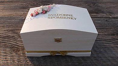 Krabičky - Truhlica Svadobné spomienky - 7966719_